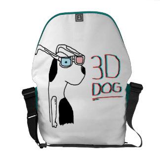 3D DOG MESSENGER BAGS