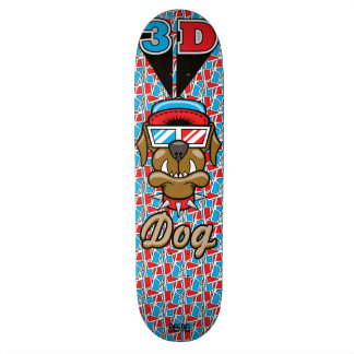 3D Dog Skateboard Deck