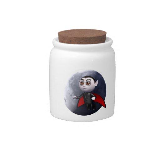 3d dracula moon (Any Color U Like!) Candy Jar