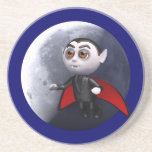 3d dracula moon (Any Color U Like!) Beverage Coasters