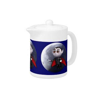3d dracula moon (Any Color U Like!) Teapot
