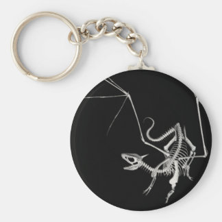3D dragón esquelético de semitono 4 Llavero Redondo Tipo Pin