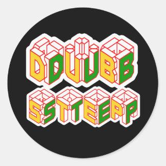 3D Dubstep shirt Round Sticker