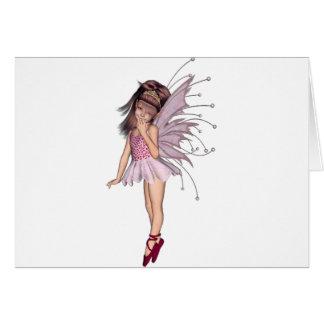 3D duendecillo rosado 2 Tarjeta De Felicitación