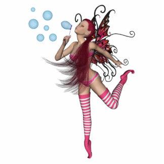3D duendecillo rosado - gráfico de hadas 1 Fotoescultura Vertical