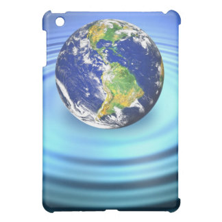 3D Earth Floating on Water Ripples Cover For The iPad Mini