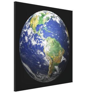 3D efecto - la tierra Lona Estirada Galerias