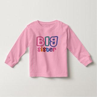 3D Effect Big Sister Design Toddler T-shirt