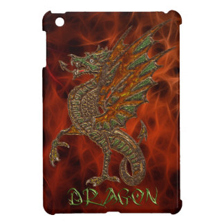 3D-effect Carved Celtic Metal-look Dragon Case For The iPad Mini