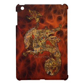 3D-effect Carved Celtic Metal-look Dragon iPad Mini Case