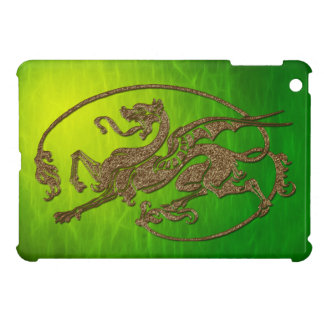 3D-effect Carved Celtic Metal-look Dragon iPad Mini Covers