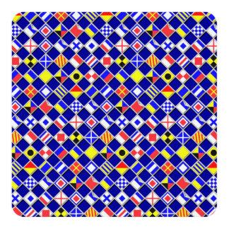3D Effect Checkered Nautical Flag tiles Decor Card