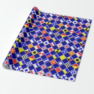 3D Effect Checkered Nautical Flag tiles Decor Wrapping Paper