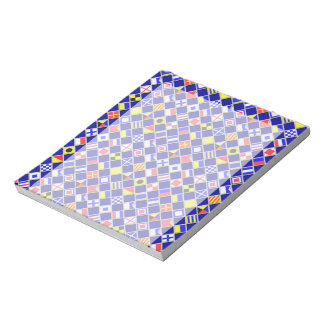 3D Effect Checkered Nautical Flag tiles Motif Notepad