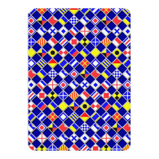 3D Effect Checkered Nautical Flag tiles Pattern Card