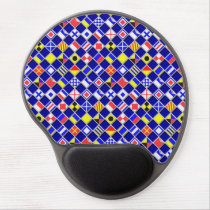 3D Effect Checkered Nautical Flag tiles Pattern Gel Mouse Pad