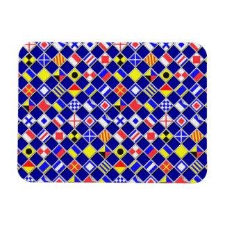 3D Effect Checkered Nautical Flag tiles Pattern Magnet