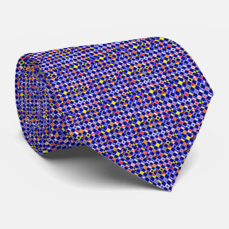 3D Effect Checkered Nautical Flag tiles Pattern Tie
