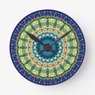3D Effect Ivanna Kaleidoscope Design Round Clock