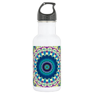 3D Effect Ivanna Kaleidoscope Design Stainless Steel Water Bottle