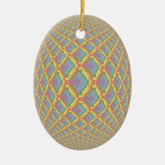 3D Effect Rainbow Scaled Ceramic Ornament
