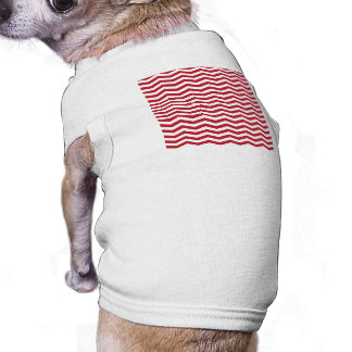 3D Effect Red Holiday Zigzag Pattern Tee