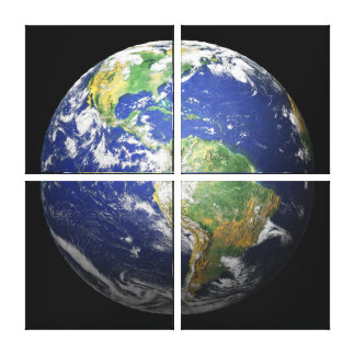 3D Effect - The Earth Canvas Print