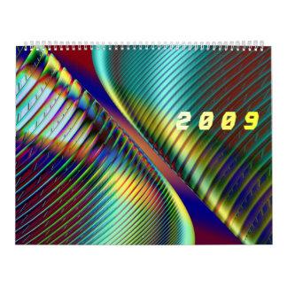 3D effects fractals Calendar