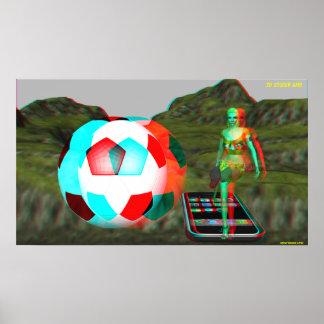 3D el chica Hollywood viaja EN 3D Poster