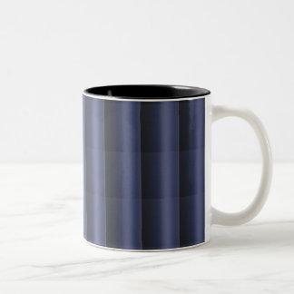 3D Elegant ROYALblue Stripe Pattern Two-Tone Coffee Mug