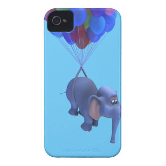 3d Elephant flying Balloons Case-Mate iPhone 4 Case