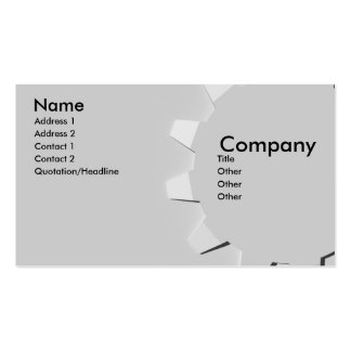 3D Embossed Look Gear Double-Sided Standard Business Cards (Pack Of 100)