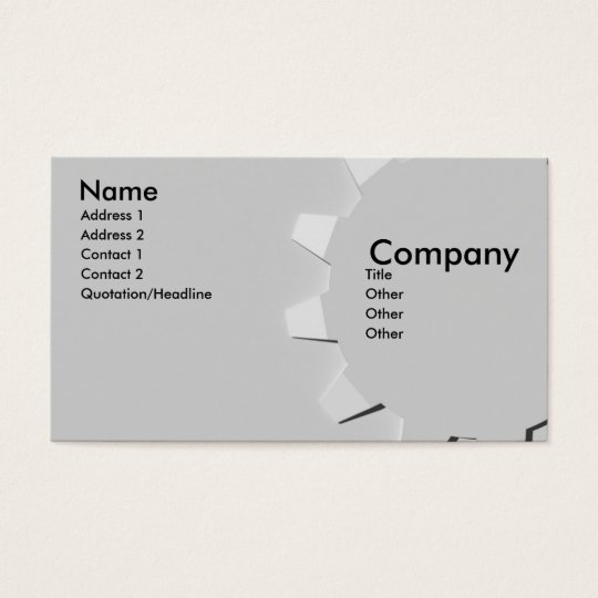 3D Embossed Look Gear Business Card