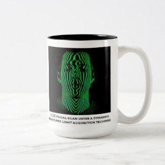 3D Facial Scan Two-Tone Coffee Mug