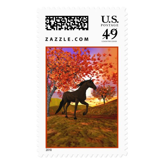 3d Fall Horse Postage