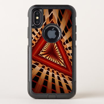 3D Fantasy Network Modern Fractal Graphic Design OtterBox Commuter iPhone XS Case