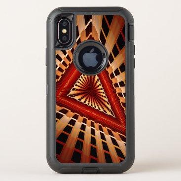 3D Fantasy Network Modern Fractal Graphic Design OtterBox Defender iPhone XS Case