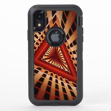3D Fantasy Network Modern Fractal Graphic Design OtterBox Defender iPhone XR Case