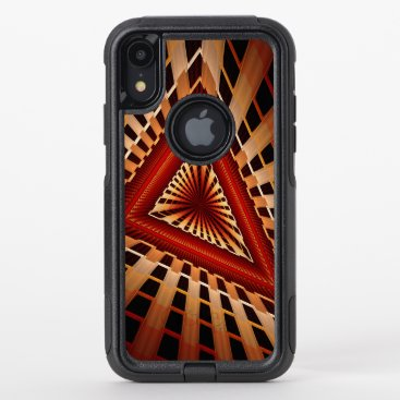 3D Fantasy Network Modern Fractal Graphic Design OtterBox Commuter iPhone XR Case