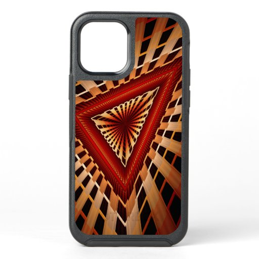 3D Fantasy Network Modern Fractal Graphic Design OtterBox Symmetry iPhone 12 Case