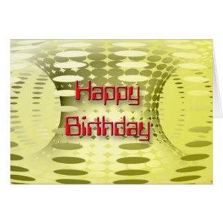 3D feliz cumpleaños YL 3 Tarjeta De Felicitación