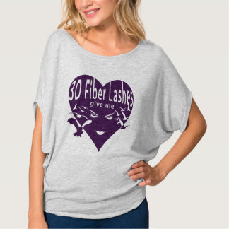 3D Fiber Lashes Give Me Wings (purple overlay) T-Shirt