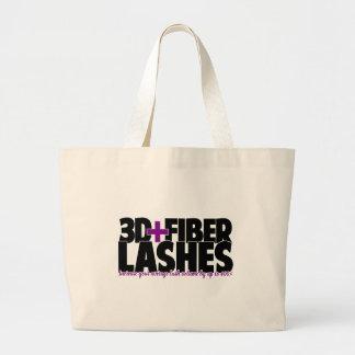 3D + Fiber Lashes Jumbo Tote Bag