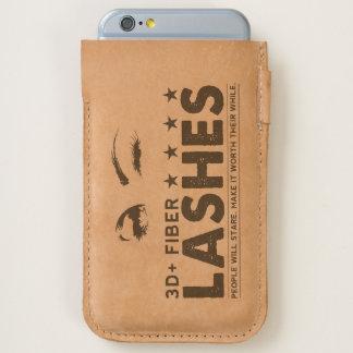 3D + Fiber Lashes - Leather Phone Case