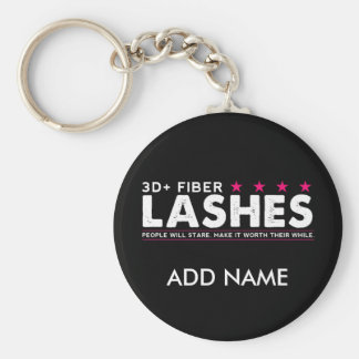 3d Fiber Lashes Personalized Keychain