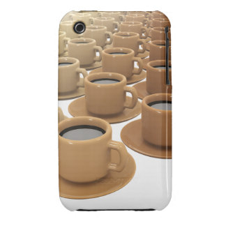 3d Field of Coffee Cups iPhone 3 Cover