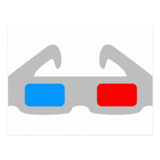 3D Film Glasses Postcard