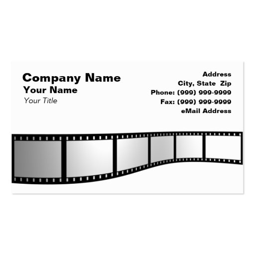 3D Film Strip Double-Sided Standard Business Cards (Pack Of 100)