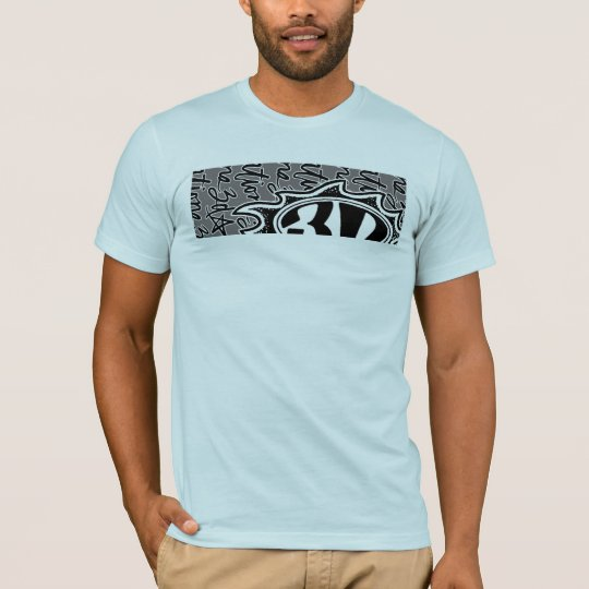 3d Flame & Script T Shirt