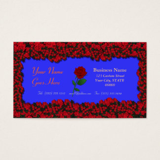 3D Floral - Three Dimensional Roses Bouquet Business Card